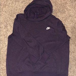 Purple Nike cowel neck hoodie